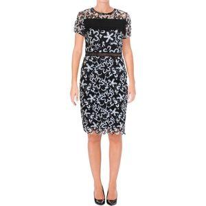 Aqua Two Tone Crochet Lace Bodycon Dress - NEW  XS
